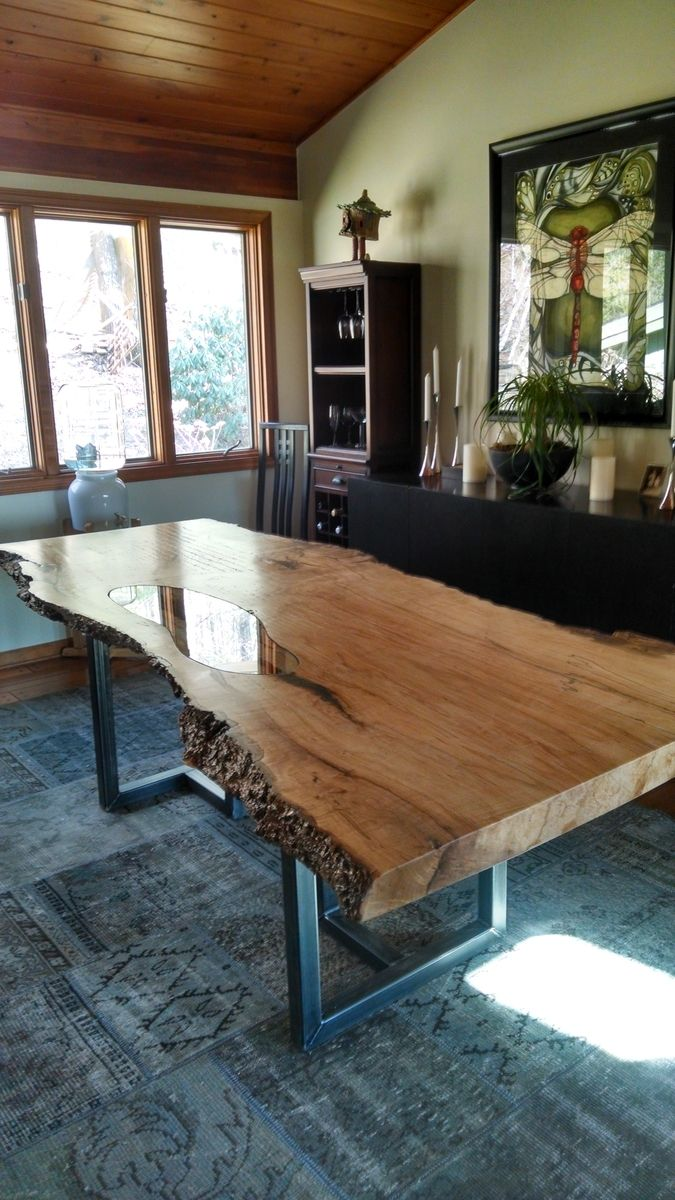 Live Edge Dining Table Deco Table Bois Massif Table Salle A