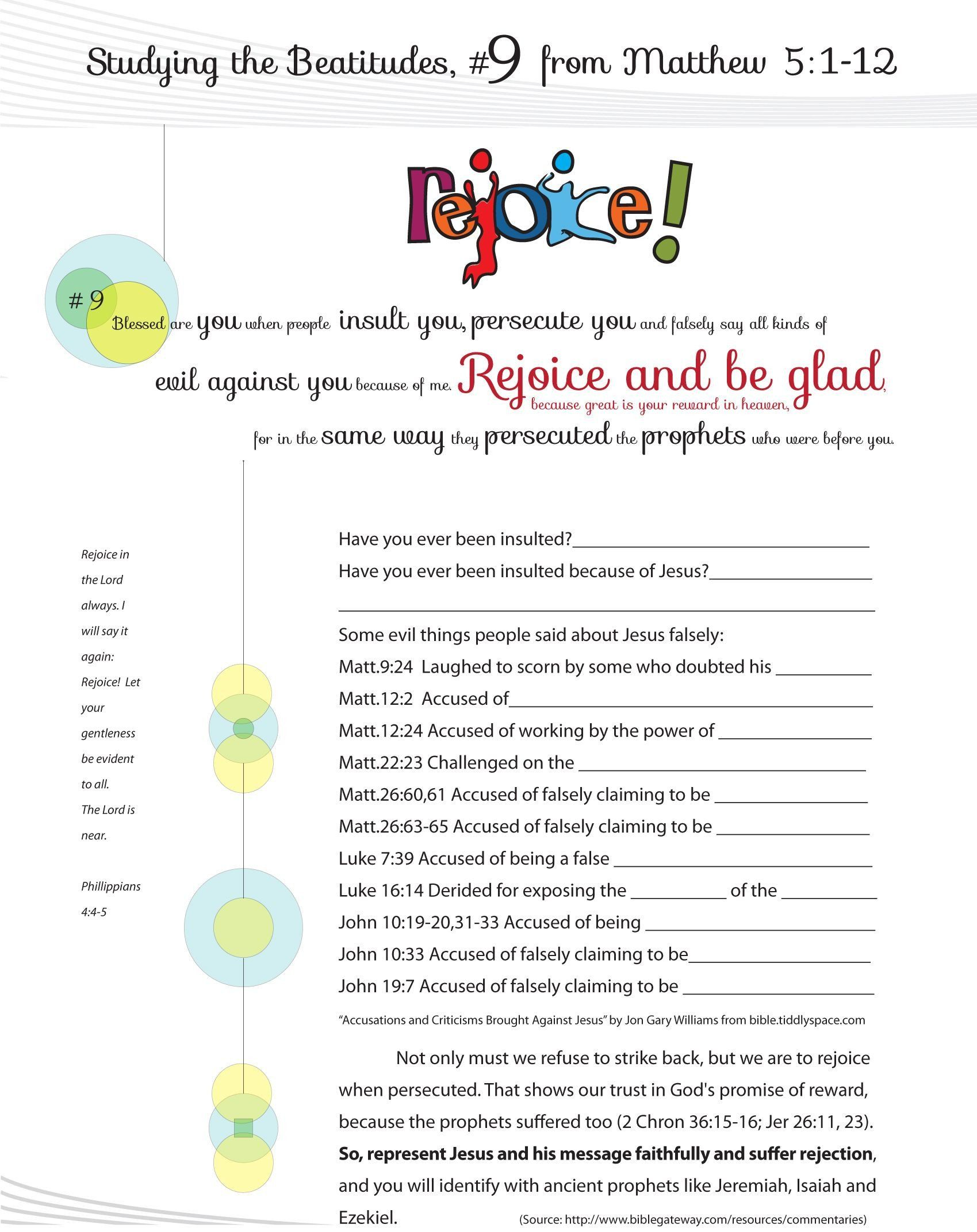 Beatitudes Worksheets For Kids Worksheet To Teach The 9th