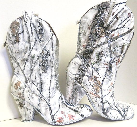 Snow White Camouflage Women S Western Bridal By Theexpressivesole