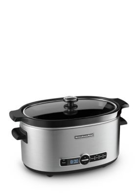 KitchenAid  6-Quart Slow Cooker with Solid Glass Lid KSC6223