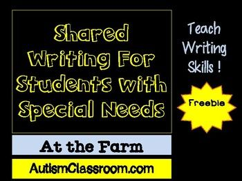 shared adapted writing for students with special needs. Black Bedroom Furniture Sets. Home Design Ideas