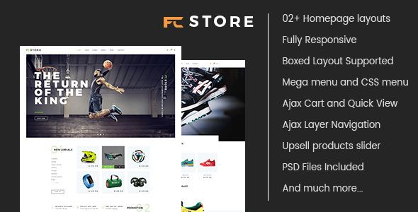 FCstore - Multipurpose Responsive Magento Theme . FCstore has features such as High Resolution: Yes, Compatible Browsers: IE9, IE10, IE11, Firefox, Safari, Opera, Chrome, Compatible With: Bootstrap 3.x, Software Version: Magento 1.9.2.2, Magento 1.9.2.1, Magento 1.9.2.0, Magento 1.9.1.1, Magento 1.9.1.0, Magento 1.9.0.1, Magento 1.9.0.0, Magento 1.8.1.0, Magento 1.8.0.0, Magento 1.7.0.2, Magento 1.7.0.1, Magento 1.7.0.0, Columns: 3