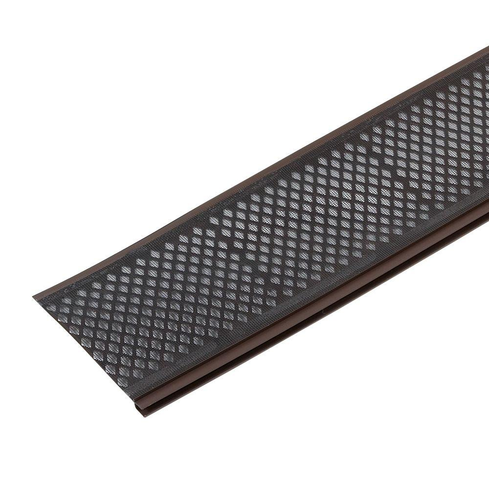 Amerimax Home Products Snap In Filter Brown Gutter Guard 86379 The Home Depot Pvc Gutters Gutter Guard Gutter Screens