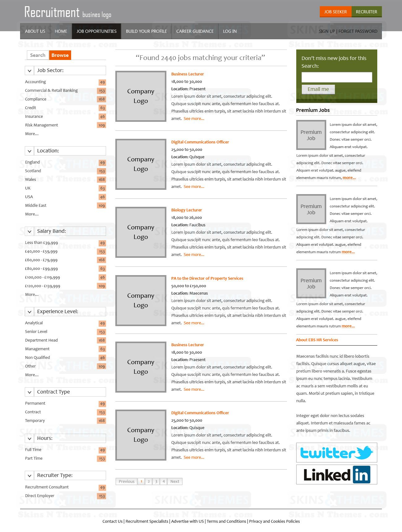 This is the Inner Page / Search Result page design for the ...