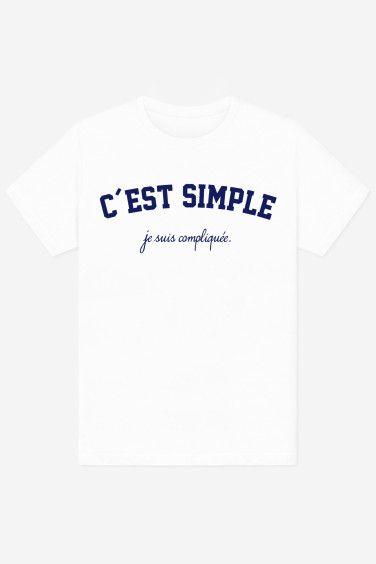 T Main Col Rond Imprimé En Avec Et Coton Shirt À Coupe La Soin qrUq6a