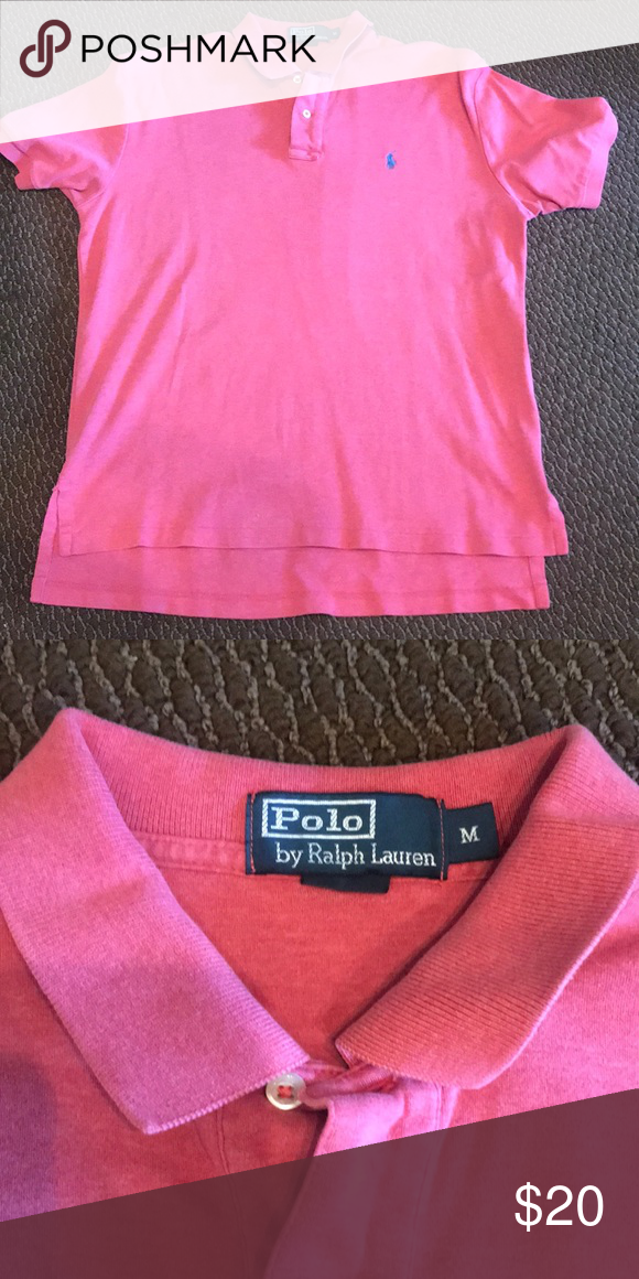 POLO RALPH LAUREN Golf Shirt Light Red polo shirt EUC Polo