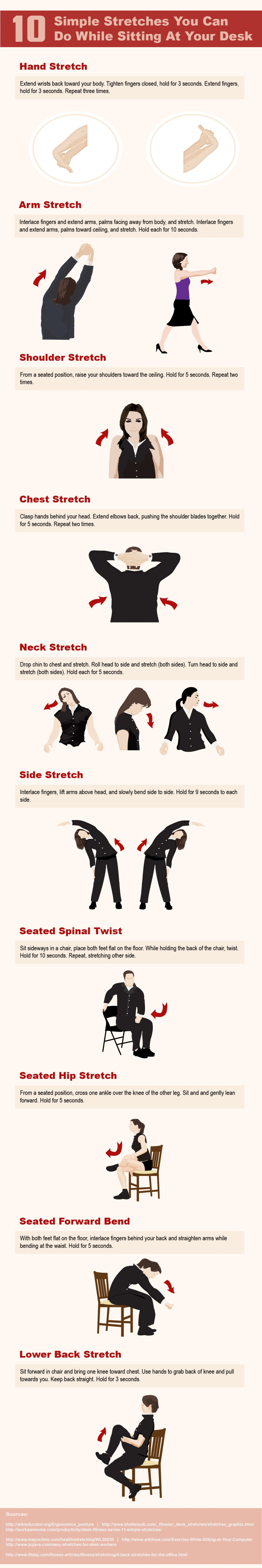 Office Chair Stretches - Static stretching chart 10 simple stretches to do at static stretchingchair workoutoffice