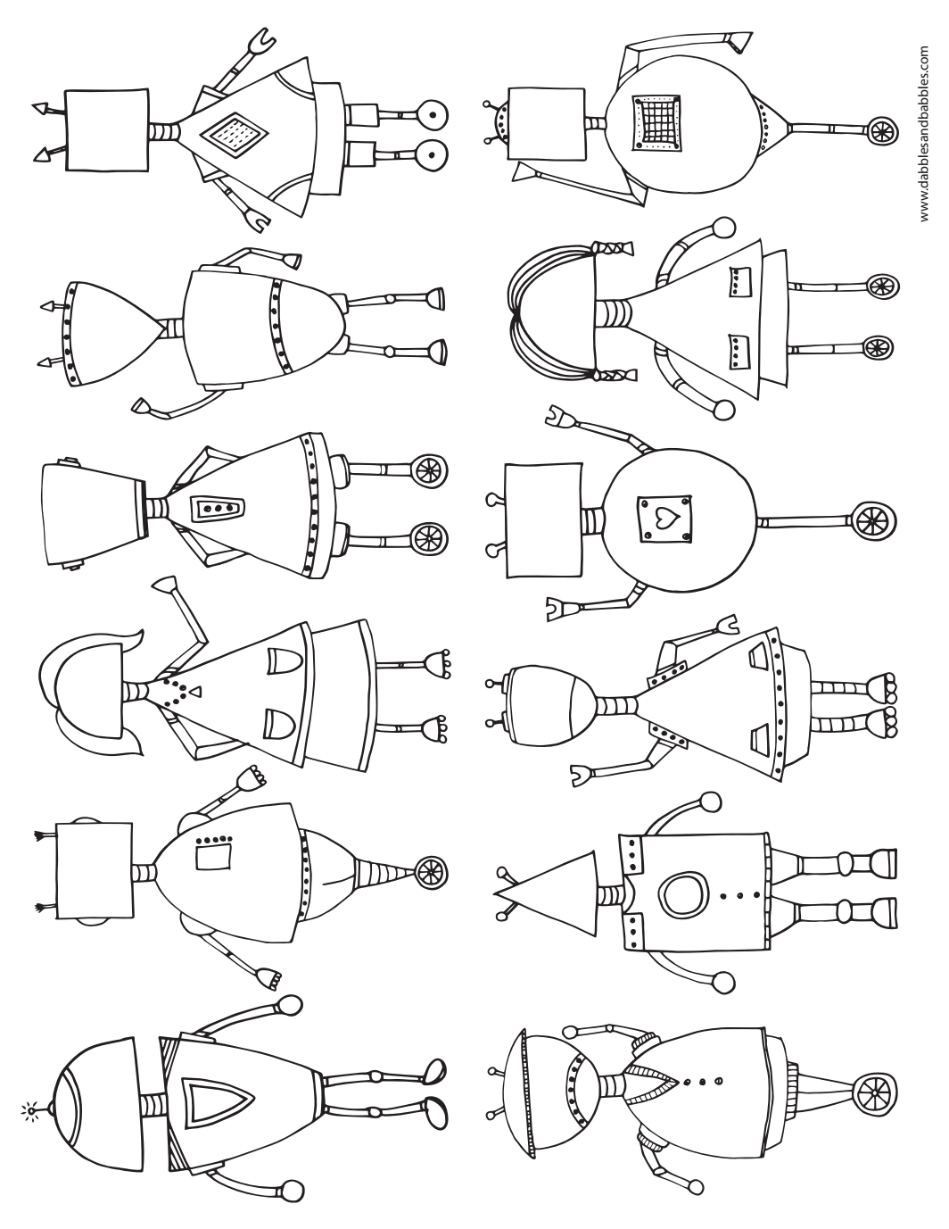 printable robot coloring page free printable robot and free