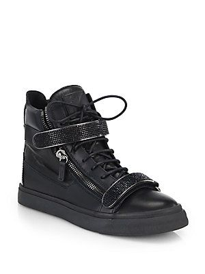 1d435818be78d Saks Fifth Avenue Mobile. Giuseppe Zanotti Swarovski Double-Bar High-Top  Sneakers
