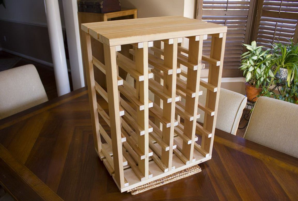 diy wine rack plans pantry and shelving wine rack. Black Bedroom Furniture Sets. Home Design Ideas