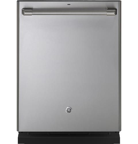 Ge Cafe Series Stainless Interior Built In Dishwasher With Hidden Controls Cdt706p2ms1 Ge Appliances Steel Tub Built In Dishwasher Top Control Dishwasher