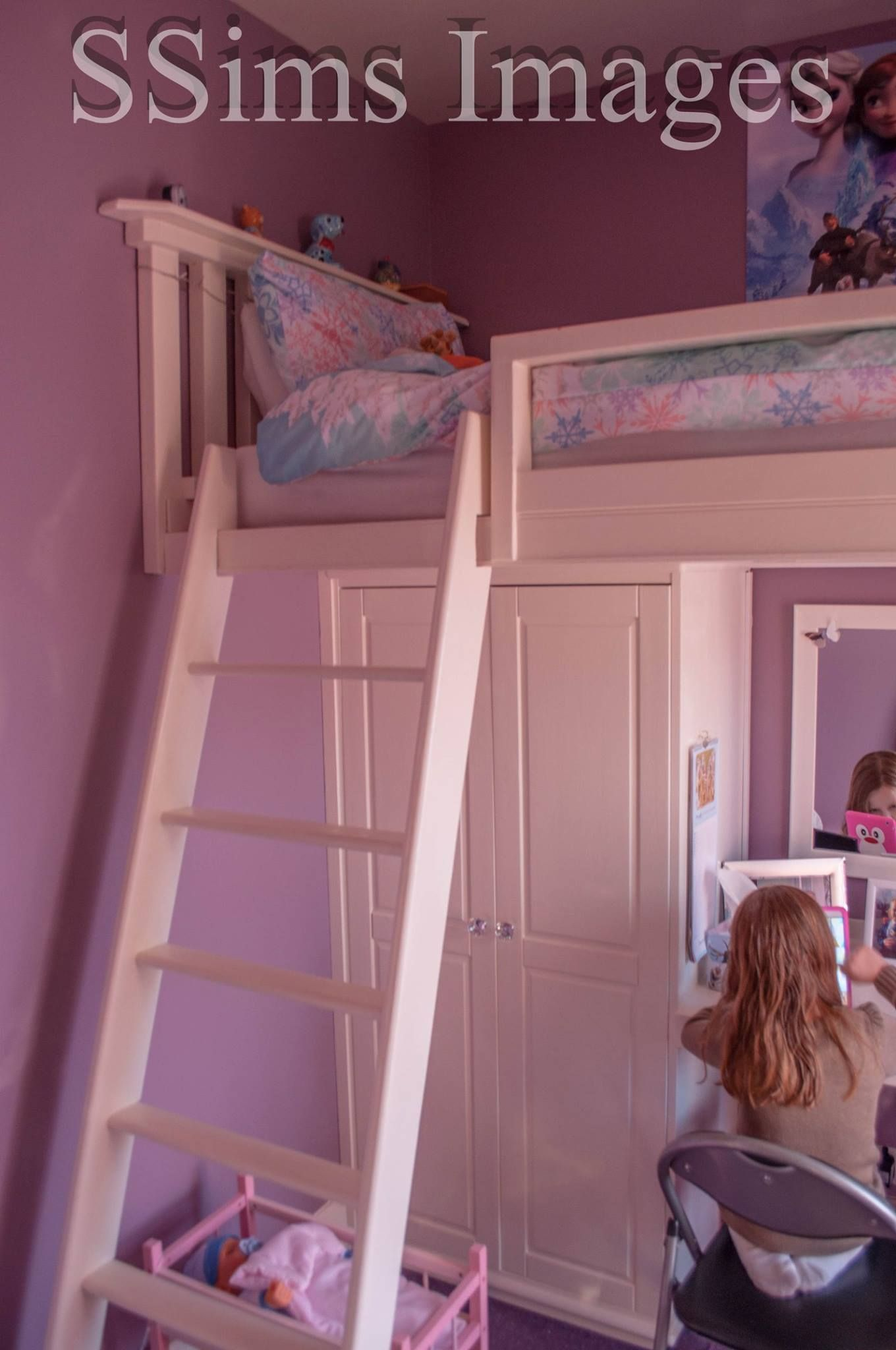 High Sleeper Bed In Small Box Room Cabin Bed With Desk Small