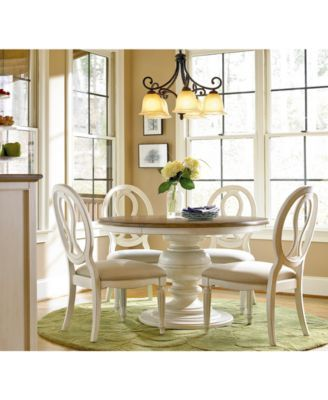 Furniture Sag Harbor Round Dining Furniture Collection Reviews Furniture Macy S In 2020 Round Dining Room White Round Dining Table Round Dining Room Table