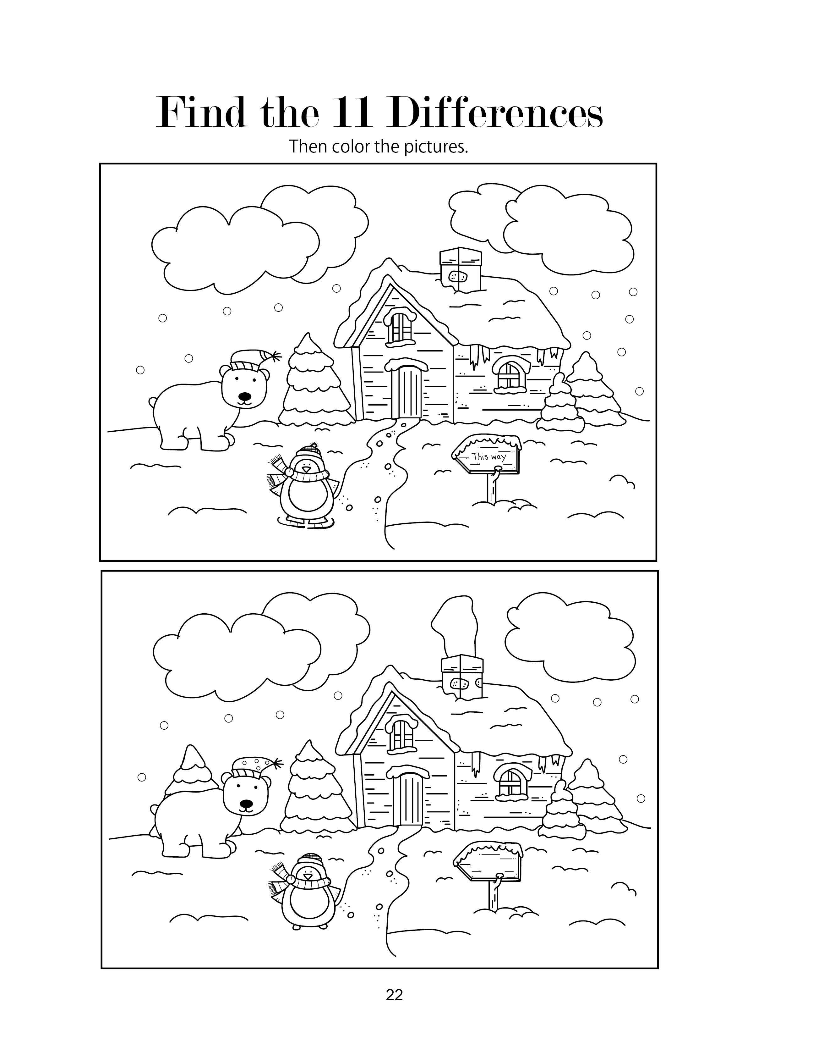 Free Christmas Find The Differences Activity Worksheet