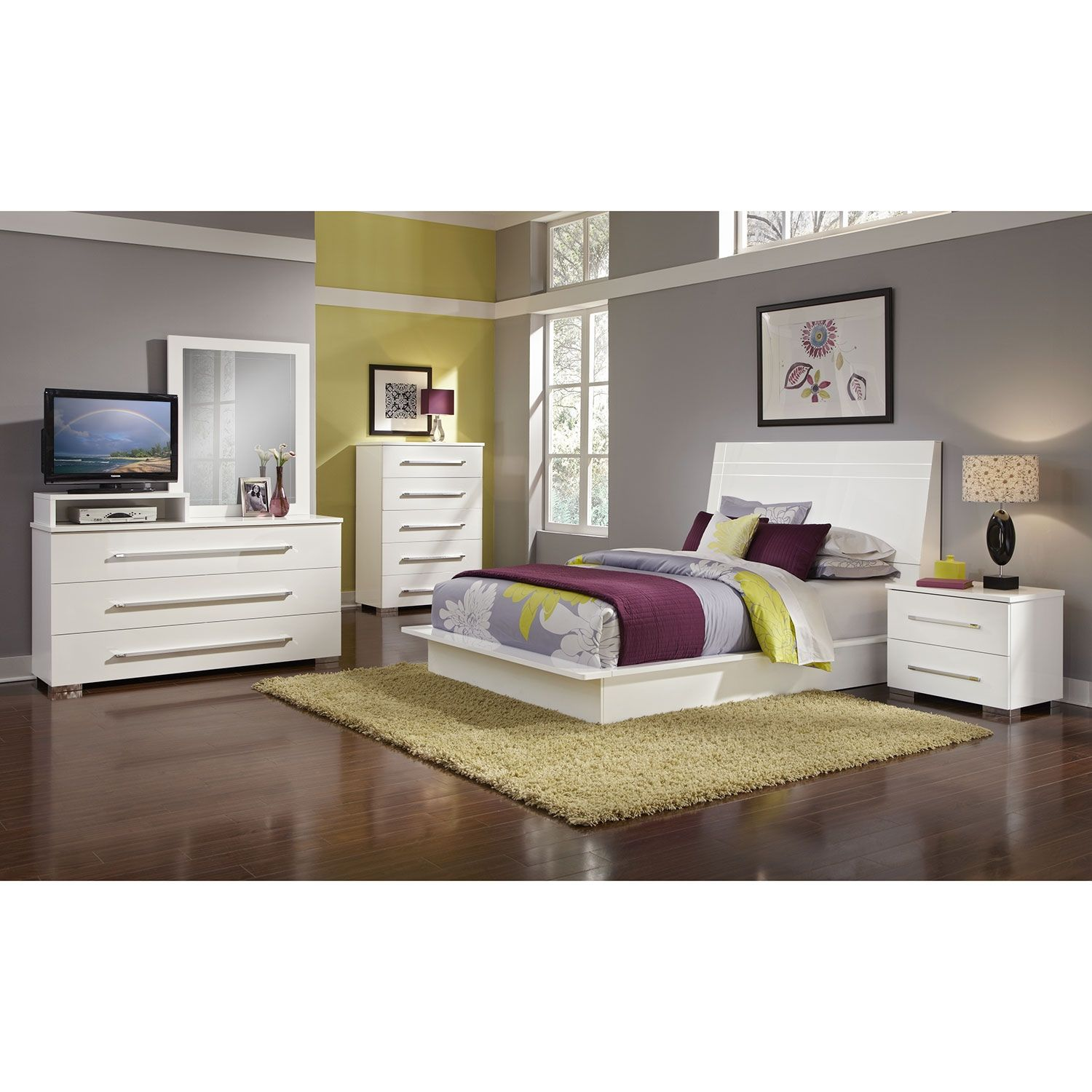 bedroom furniture dimora white ii 7 pc queen bedroom buy