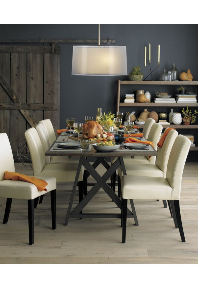 Metra extension dining table crate and barrel - Dining Room Design Metra Extension Dining Table Crate And Barrel