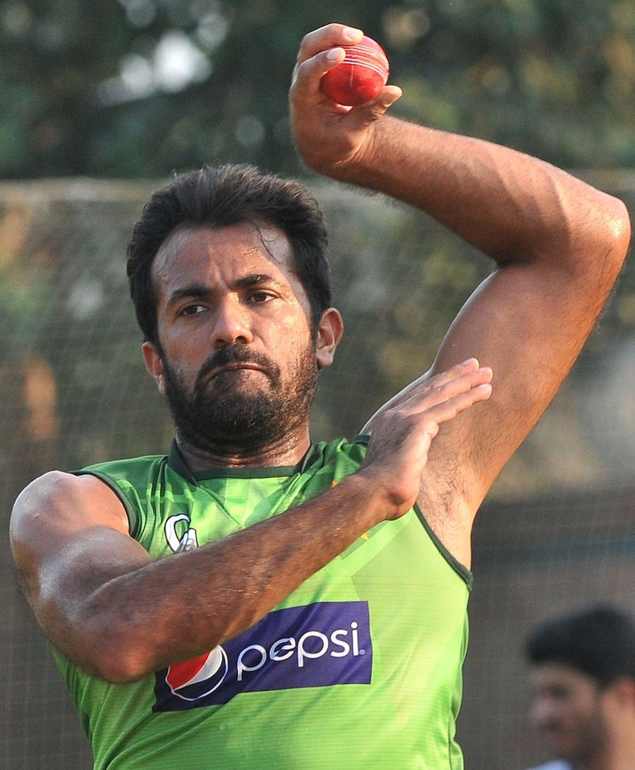 (Photo) Saeed Ajmal bowls in a training session Cricket