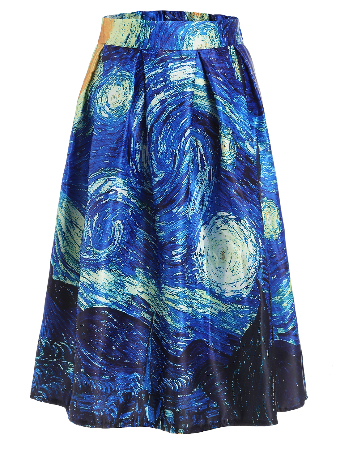 The Starry Night Print Box Pleated Skirt. | My style - haves, want ...
