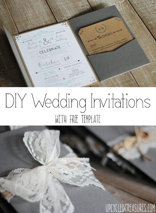 FREE Printable Wedding Invitation Template Diy wedding invitations
