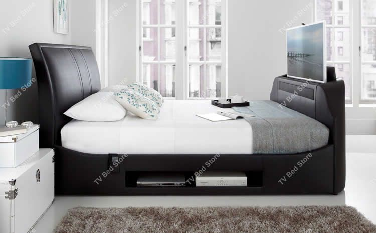 The Maximus King Size TV Bed Made by Kaydian Design this Luxurious ...