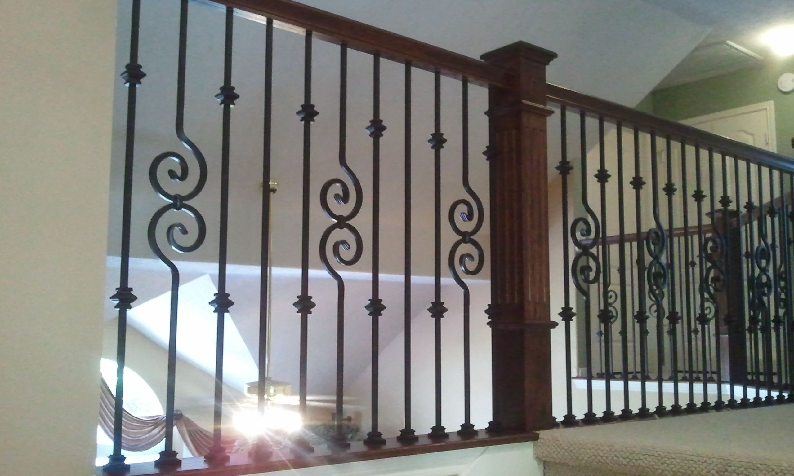 stairway spindles   Stair Iron Balusters Wrought Iron ...