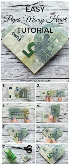 Dieses einfache Papiergeld-Falt-Tutorial ist eine wirklich schöne Idee für eine Hochzei ... - #Dieses #eine #einfache #für #Hochzei #Idee #ist #PapiergeldFaltTutorial #Schöne #wirklich