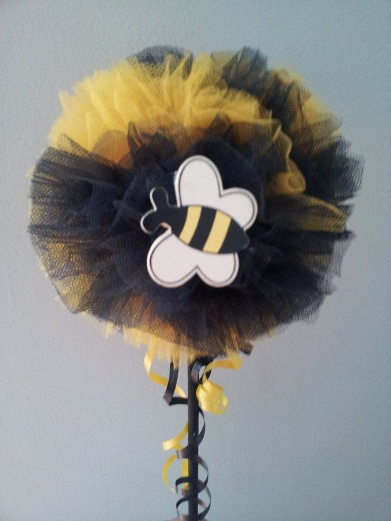Bumble Bee Tulle Wand Party Centerpiece Photo Prop