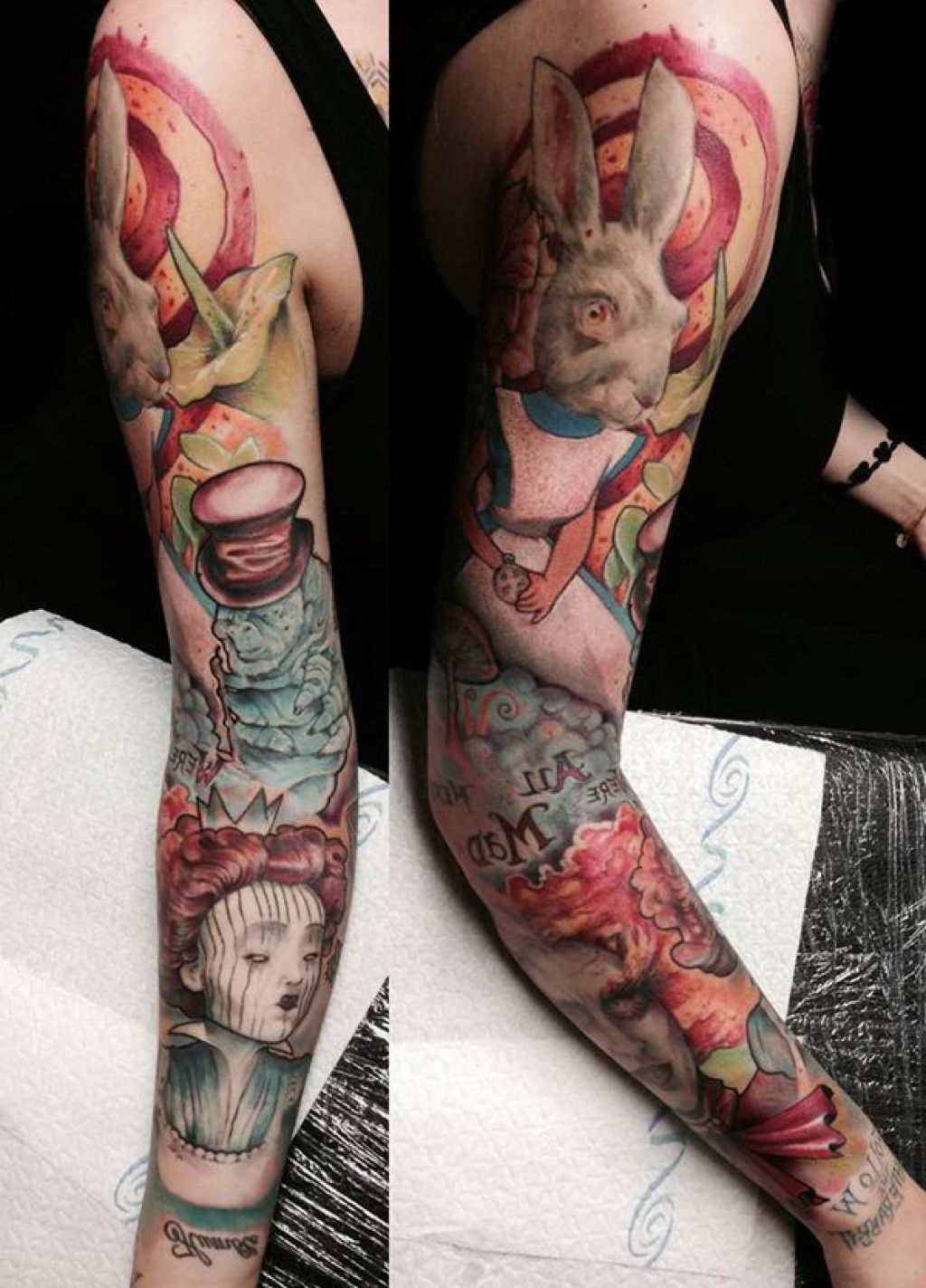 Alice in wonderland with tattoos and piercings