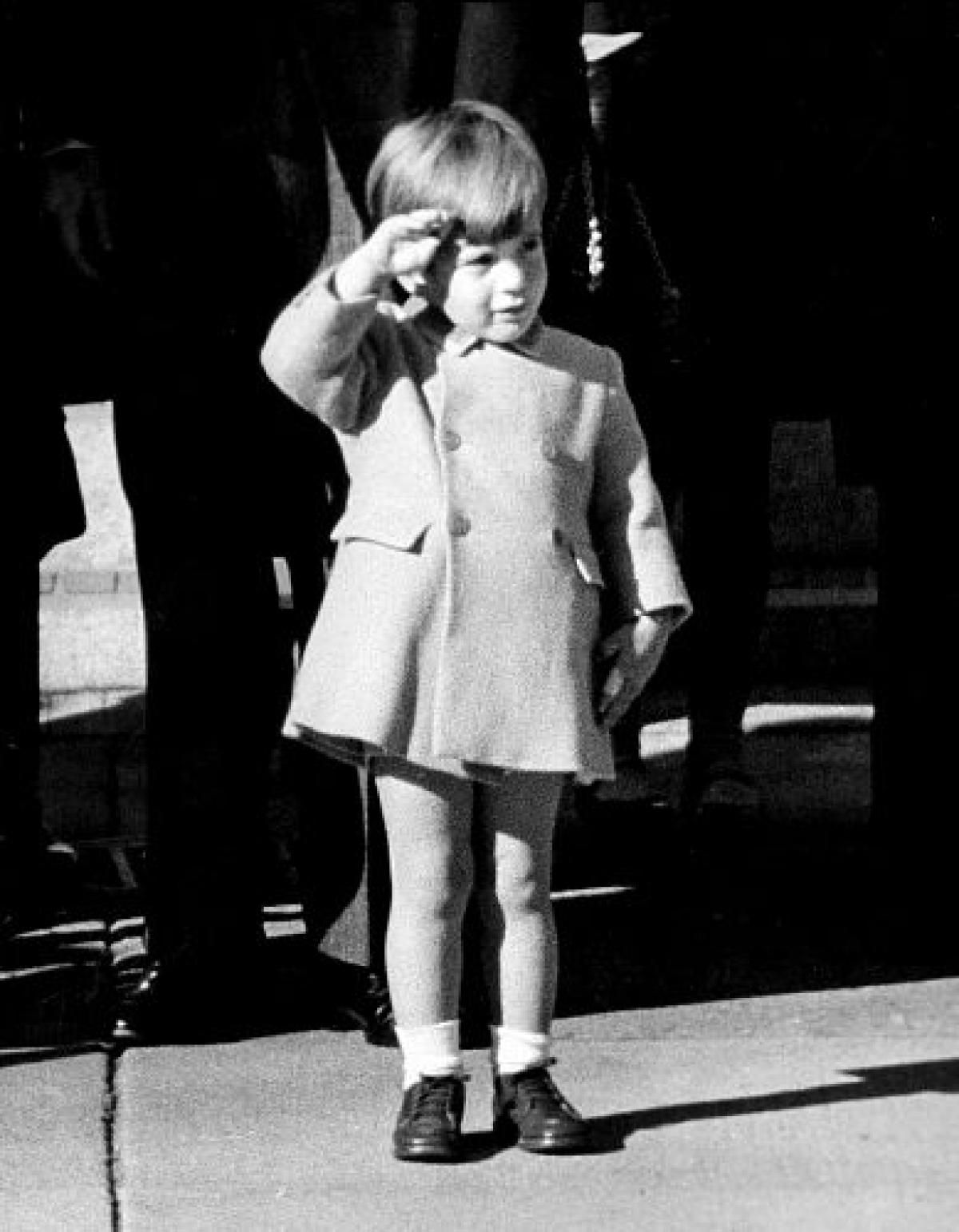 A Young Jfk Jr Stands Tall As He Salutes His Father S Casket