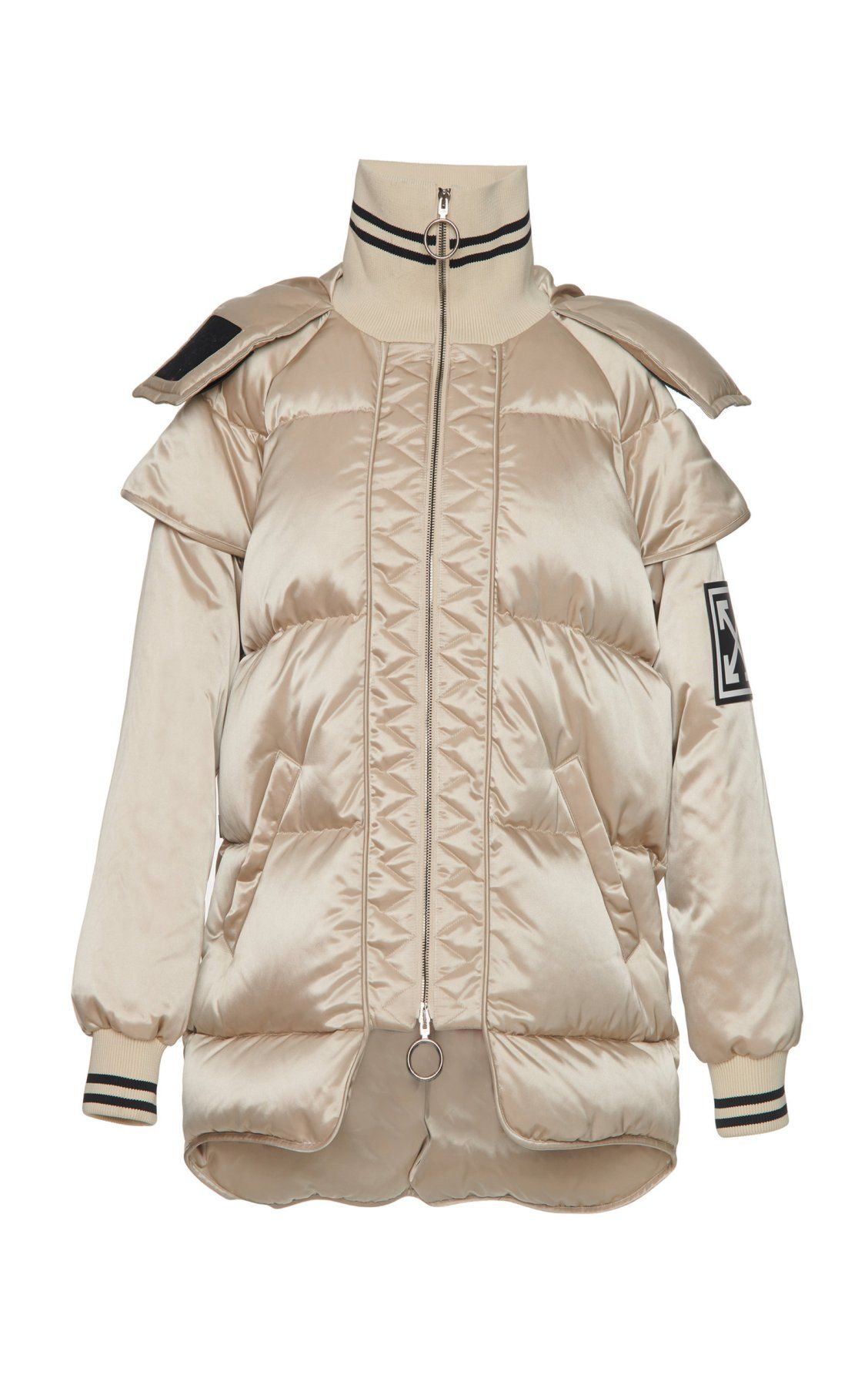 Technical HighNeck Puffer Coat by OffWhite c/o Virgil