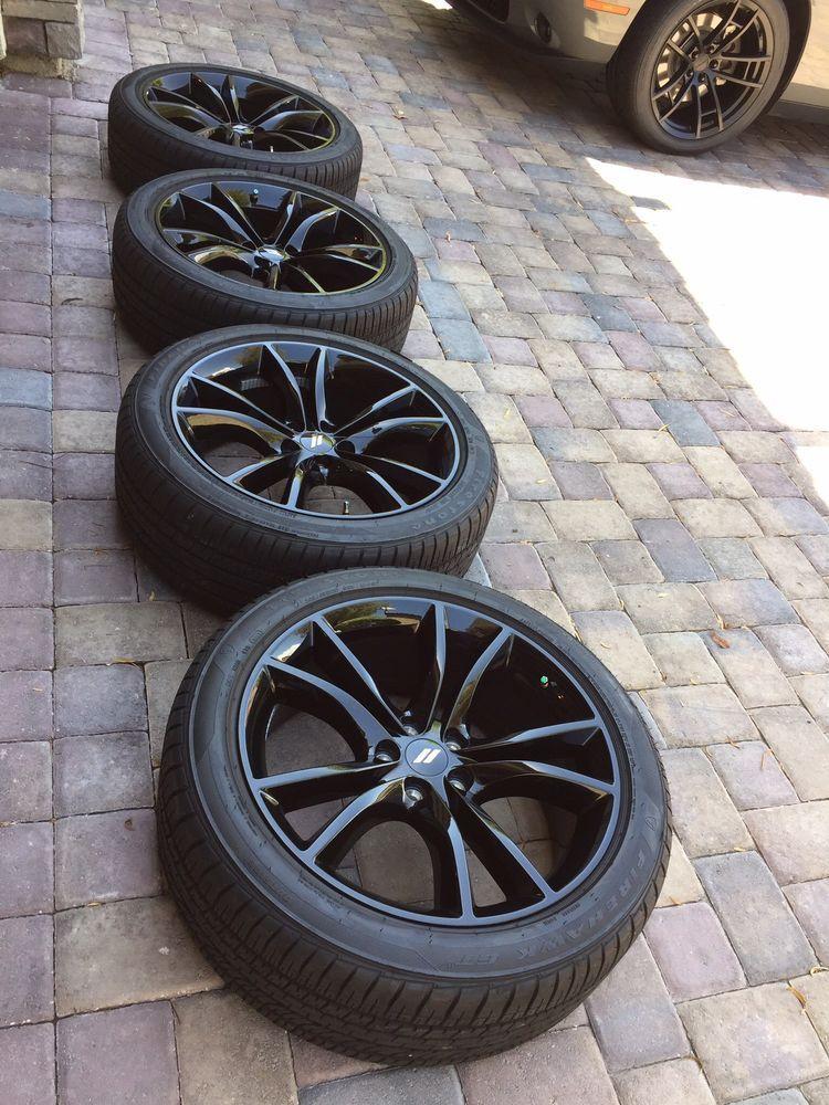 20 Charger Challenger Rt Black Top Wheels Rims Factory Oem Firehawk Gt Tires Wheel Rims Challenger Rt Wheel