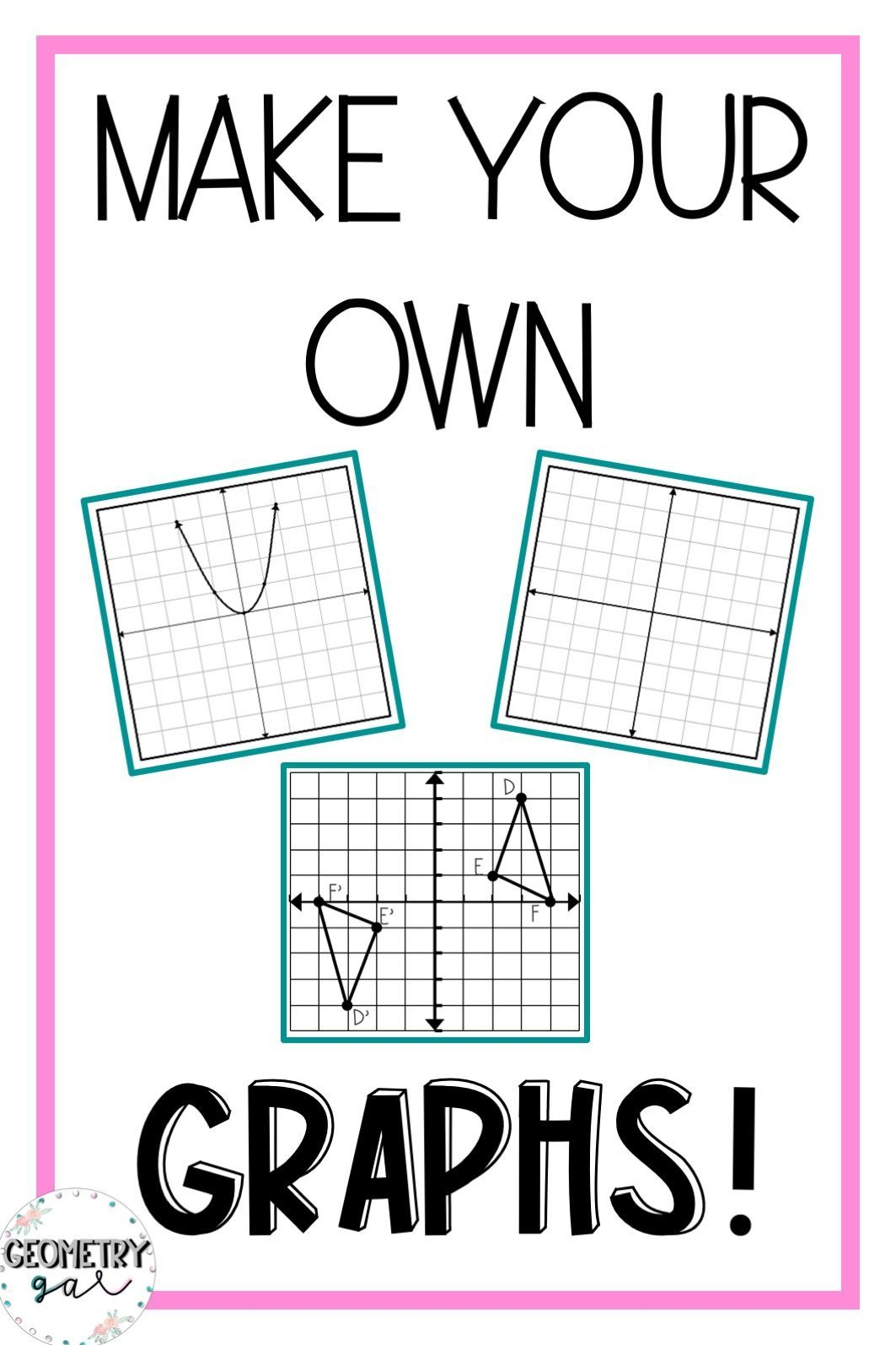 How To Make Your Own Graphs Using Powerpoint Lindsay Bowden Make Your Own Graph Graphing Math Resources