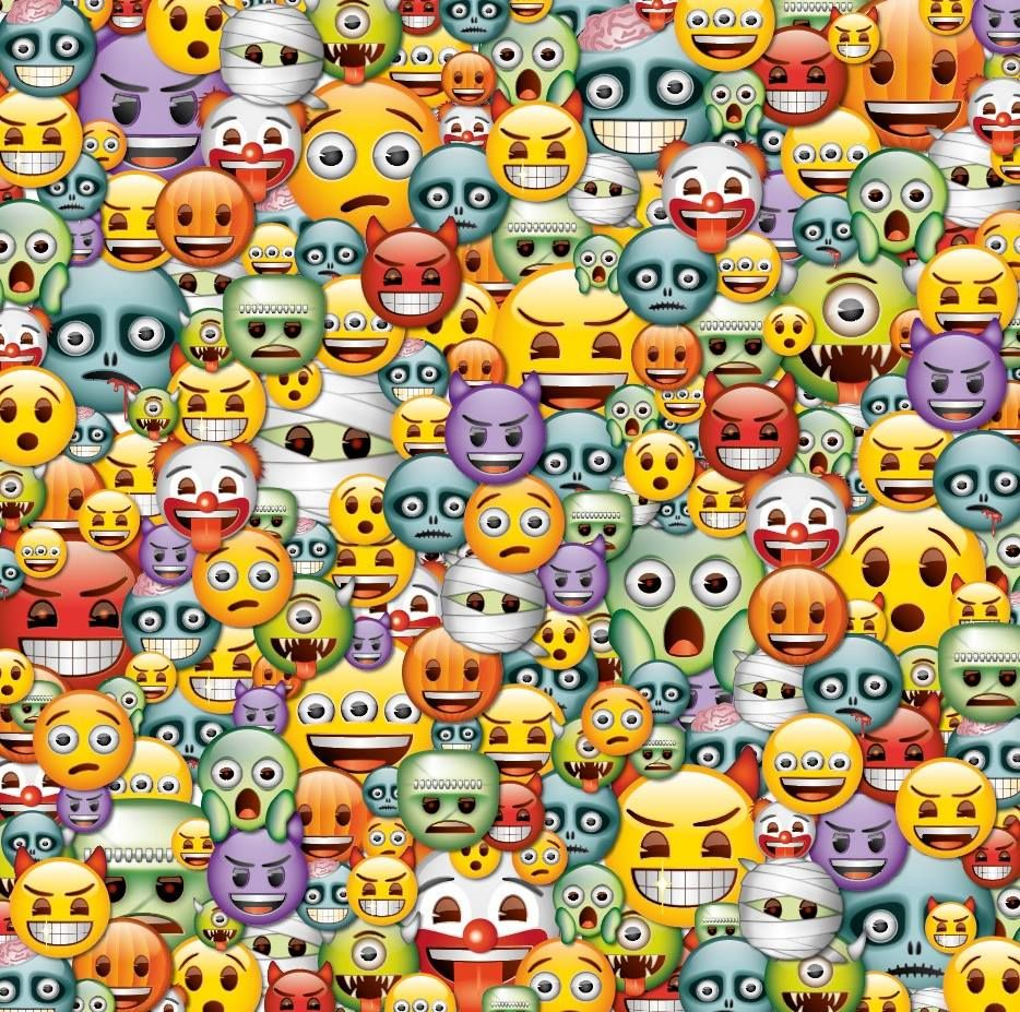 emoji u00ae halloween pattern