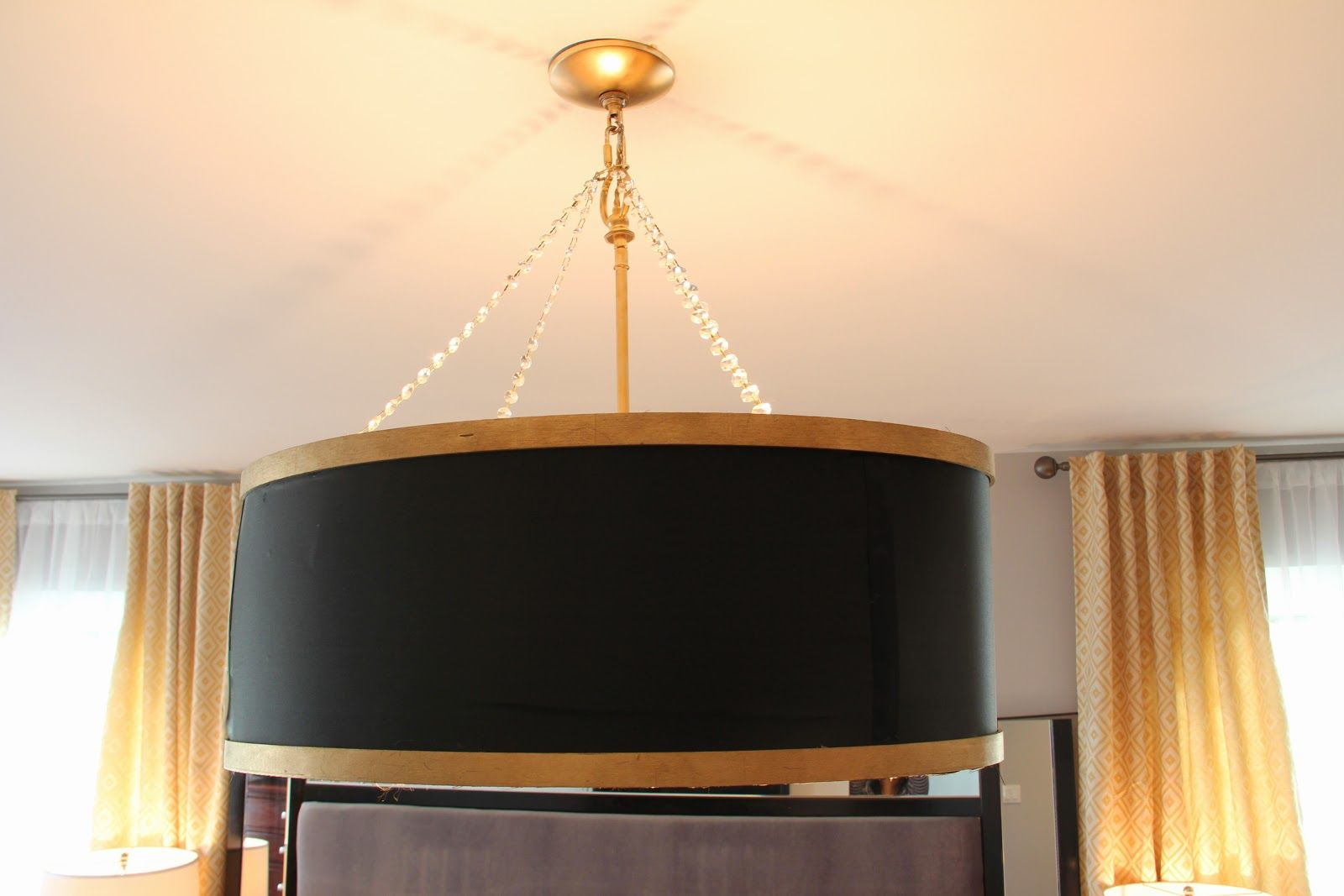Pretty Clever And Light Fixture Idea Sheer Serendipity Diy Drum Shade Chandelier