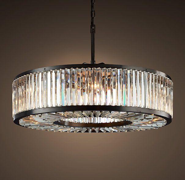 Welles Clear Crystal 43 5 Round Chandelier Grey Iron Round Chandelier Modern Crystal Chandelier Crystal Chandelier Lighting