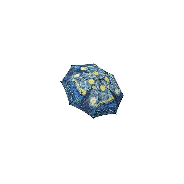 Van Gogh Starry Night (Auto Open/Close Mini) Umbrella - ShopPBS.org ($59) ❤ liked on Polyvore featuring accessories, umbrellas, folding umbrella and mini umbrella