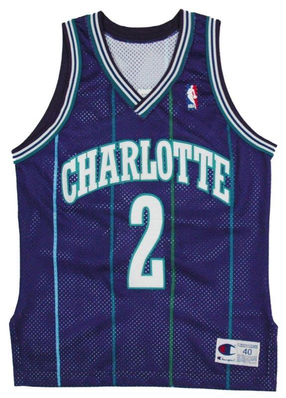 712ec484e388 Details about   Vintage Authentic Champion Larry Johnson Charlotte ...