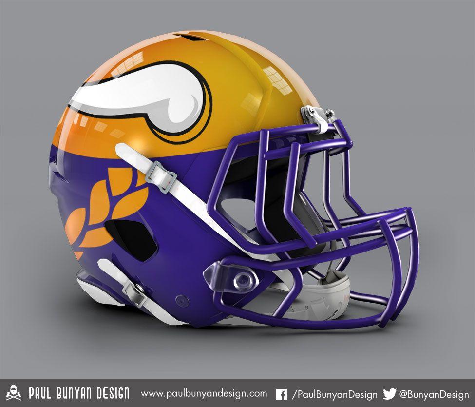 Minnesota Vikings - NFL Concept Helmet by Paul Bunyan Design Cascos 8f0ed55daf5