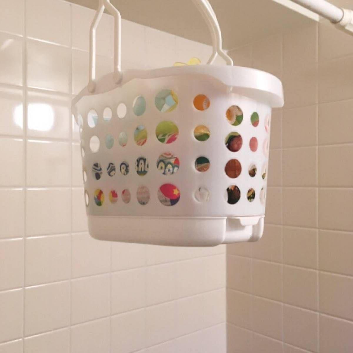 セリア お風呂バスケット が理想的すぎる その理由は底にある アレ お風呂 おもちゃ バスルーム 収納 アイデア 収納 アイデア