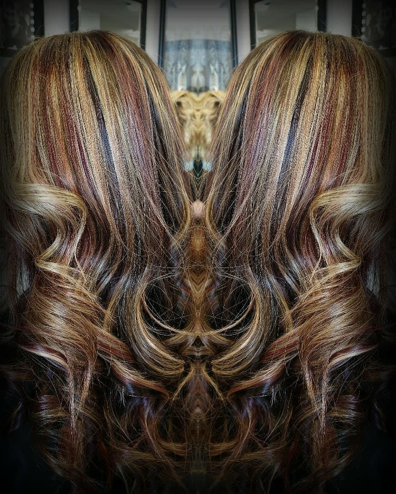 Red lowlights hairstyles animals pinterest highlighted
