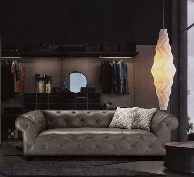 Chesterfield Sofa In Hellgrau Sit Mobel 0 Versand Sofas