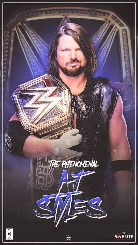Aj Styles Wwe Champion Iphone Wallpaper David S Wrestling