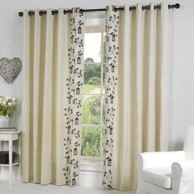 Buy Paradise Lined Eyelet Curtains Black With Matching Cushion Available