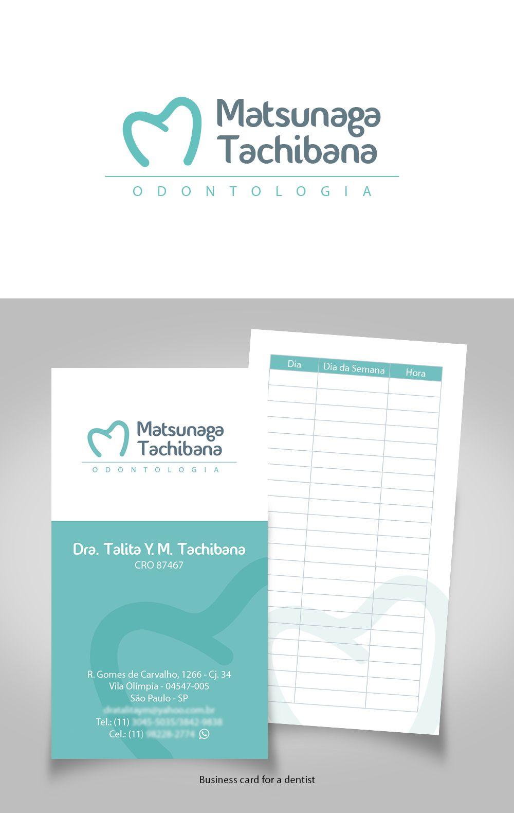 Logo and business card for dentist :: designed by Sandra H. V. ...