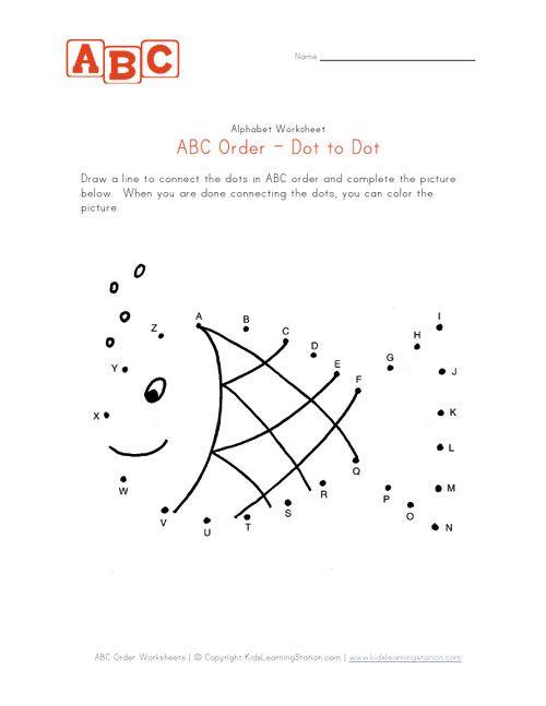 abc fish dot to dot