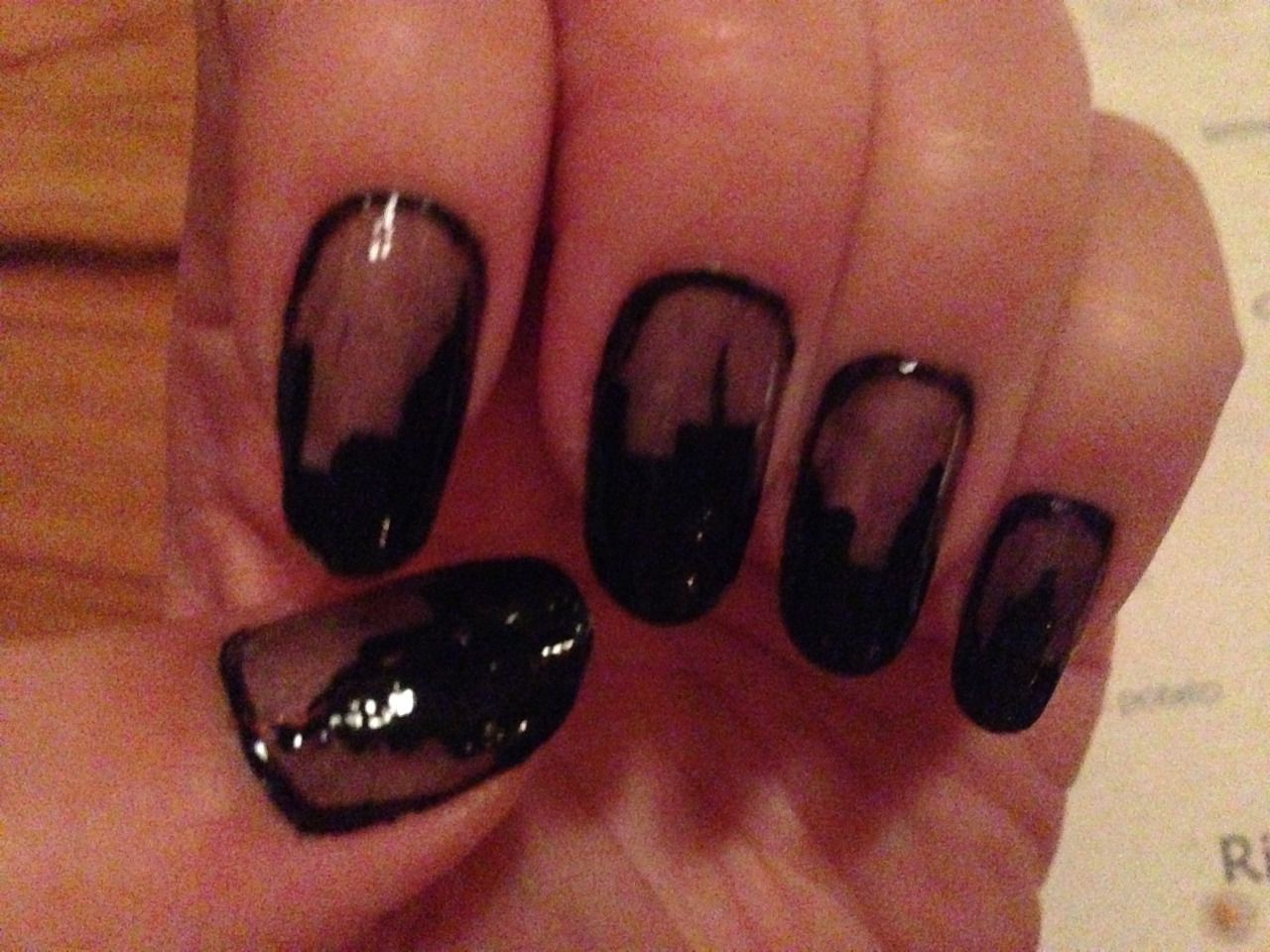 dec 2015 - sheer new year\'s eve skyline nails [forgot to bring a ...