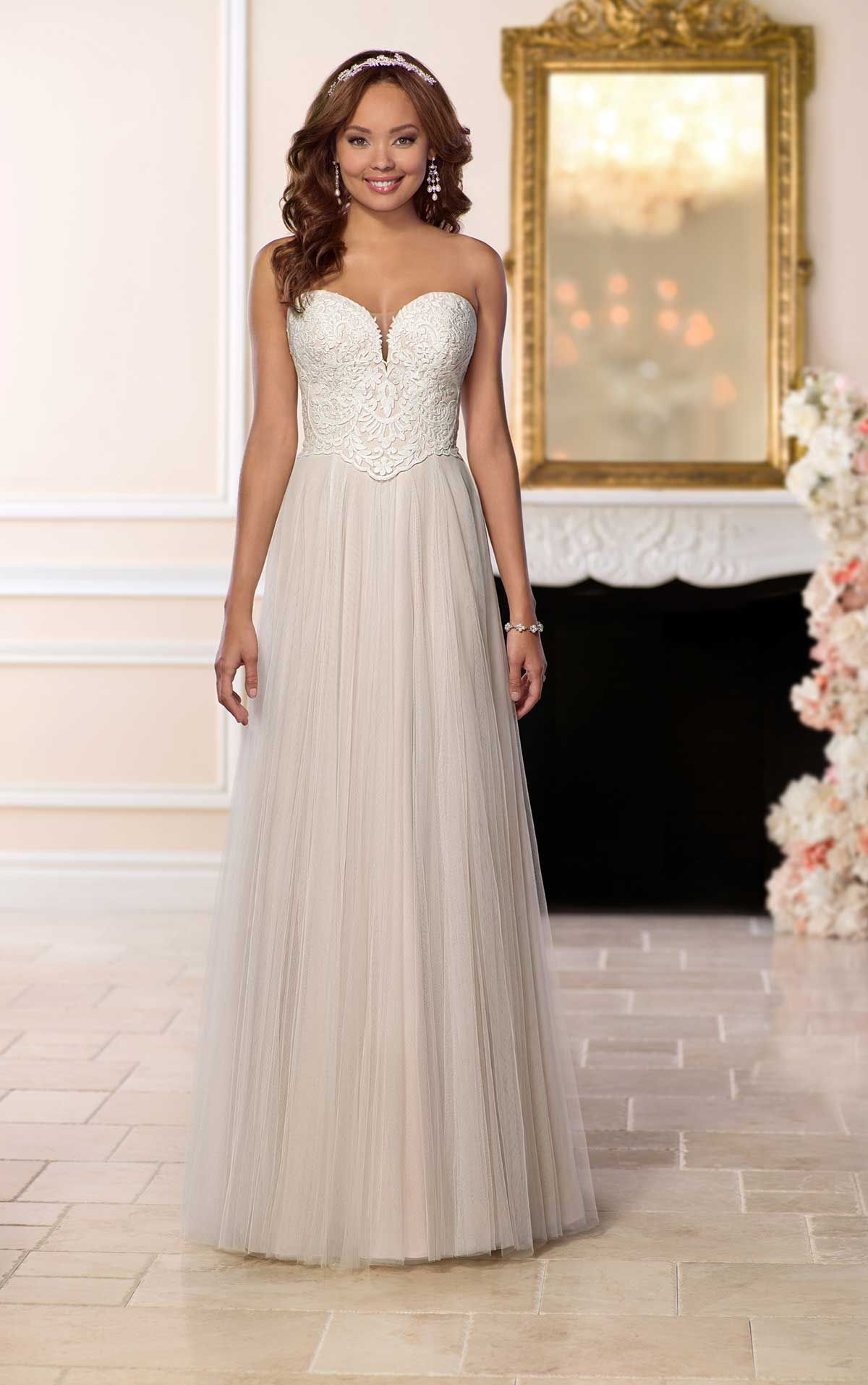 Affordable Wedding Dress with French Tulle | Stella york, Wedding ...