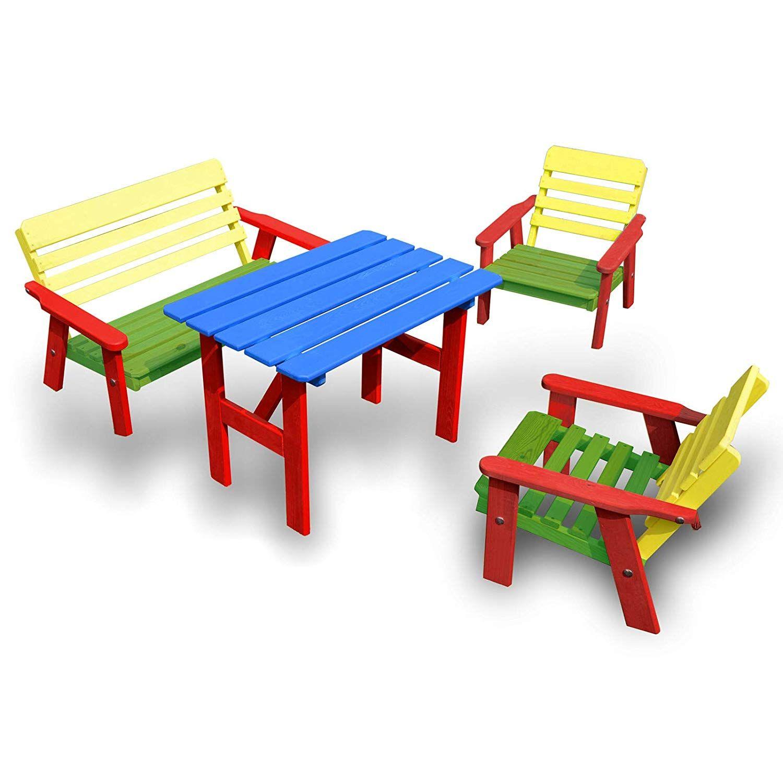 Kindersitzgruppe Bestehend Aus 1x Bank 2x Stuhl 1x Tisch