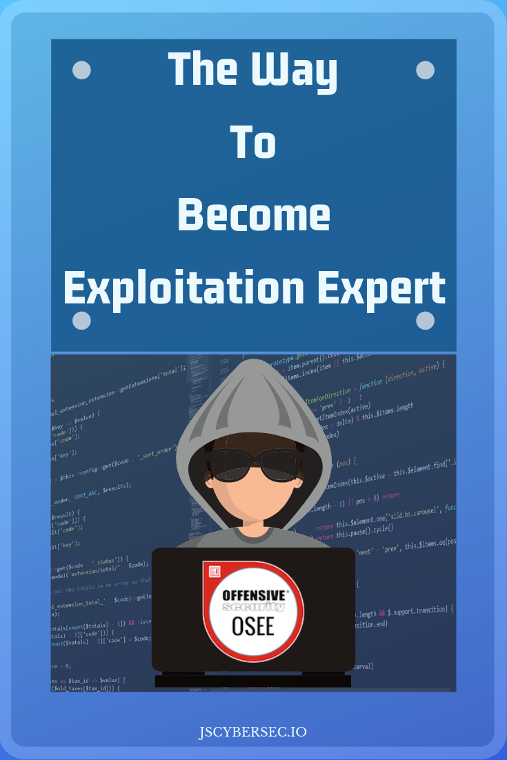 Offensive Security Exploitation Expert OSEE | Jouiseonin