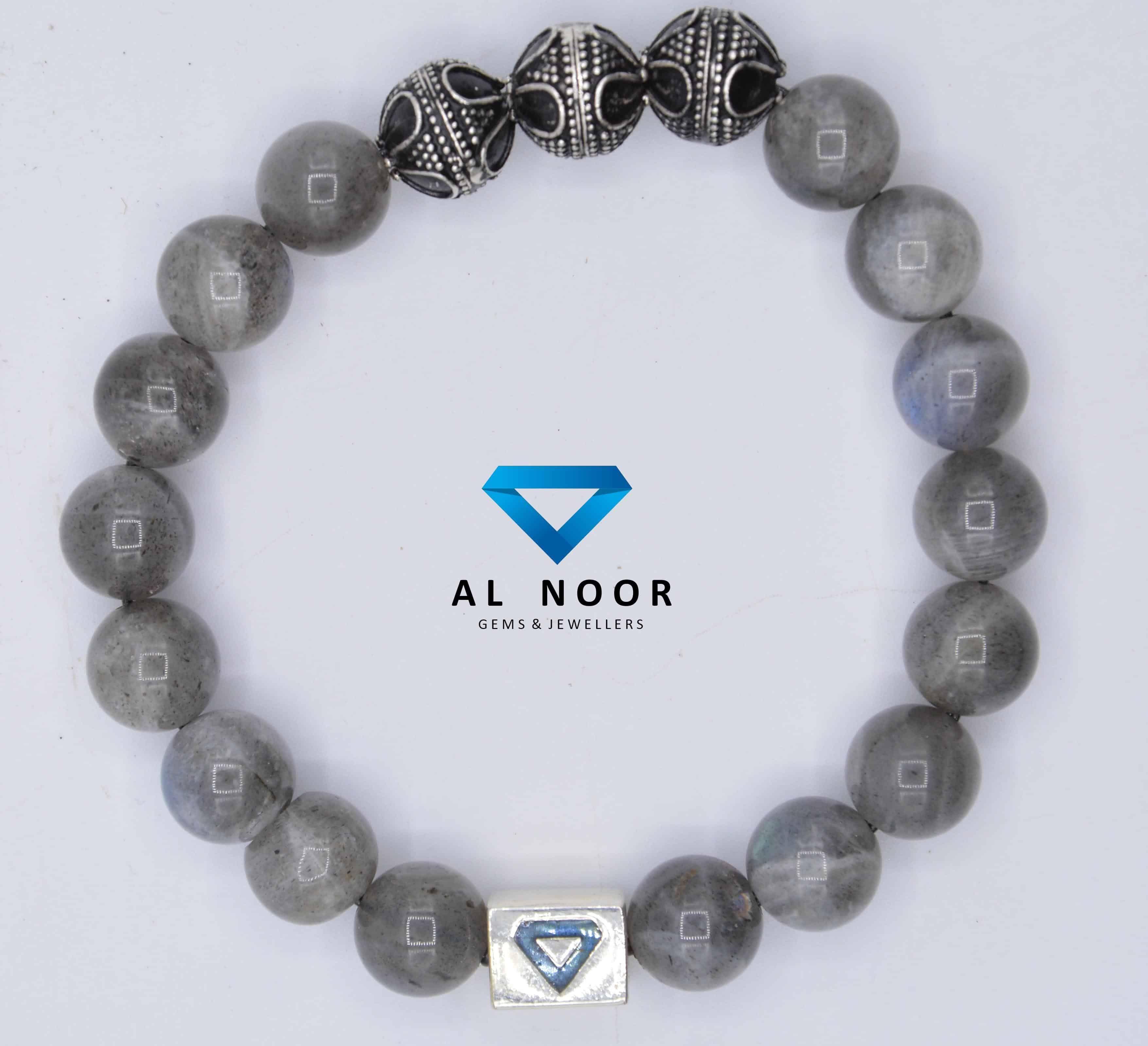 3 to 4 mm Stone Size Gemstone Bracelet Labradorite Bracelet Beaded Women/'s Bangle Silver 925 Sterling Ball Bracelet